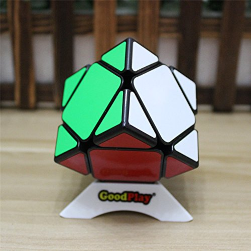 GoodPlay Newest ShengShou Aurora Skewb Black Magic Cube 3D Intelligence Smooth Brain Teaser Twist Puzzle Speed Cube Puzzle Black + One Cube ()