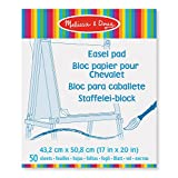 Melissa & Doug Art Essentials Easel Pad (43 x 51 cm) With 50 Sheets of White Bond Paper