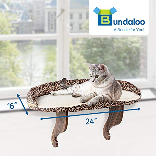 Details About Bundaloo Cat Window Perch Easy Set Up Diy Kitty Sill Mounted Shelf Bed For
