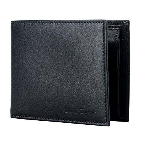 Salvatore Ferragamo 100% Leather Black Men's Bifold Wallet