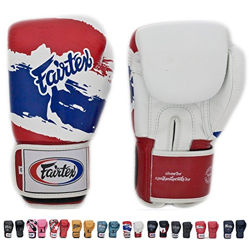 Fairtex Muay Thai - Boxing Gloves. BGV1 - Color: Classic Brown, Emerald, Black, White, Blue, Red. Size: 10 12 14 16 oz. Training, Sparring Gloves for Boxing, Kick Boxing, MMA ()