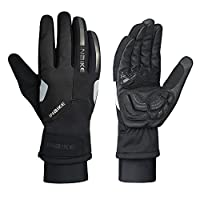 INBIKE Winter Thermal Windproof Reflective Cycling Bike Gloves with Thick Gel Padded