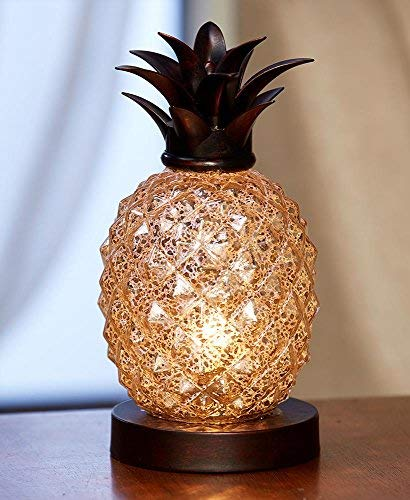 The Lakeside Collection Pineapple Glass Table -