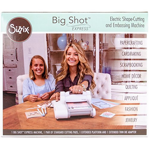 Sizzix Big Shot Express Electric Die Cutting and Embossing Machine with Extended Accessories 6 in (15.24 cm) Opening -