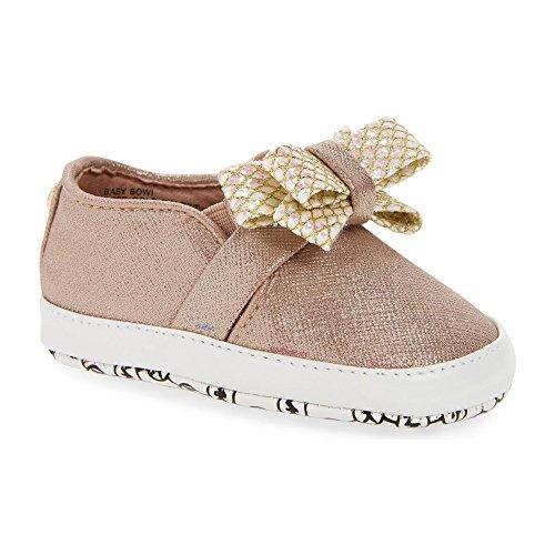Michael Kors Girl's Baby Bowi Fashion Sneaker Rose Gold Mesh - Toddler Kors Michael