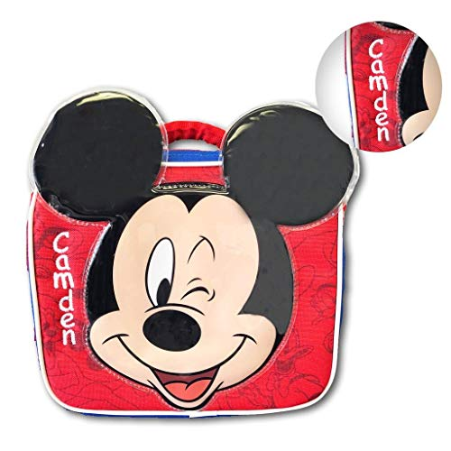 Mouse Holiday Personalized Mickey (Personalized Licensed Lunch Bag (Mickey Mouse