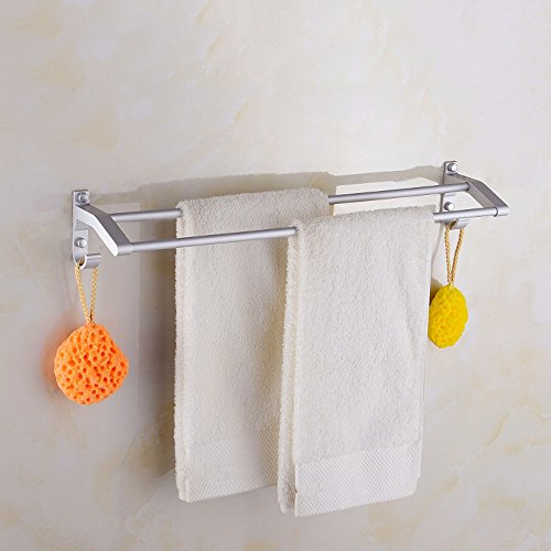 Aluminum Alloy 50cm Space Double Holder Towel Rails - 8