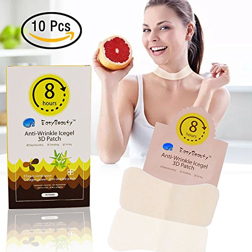 (Anti-wrinkle Neck Hydrogel 3D Patch - Facial Smoothies Firming Chin UP Wrinkle Removal Strips Hydrating Mask Treatment with Hydrocolloid Gel (10 pcs/Box))