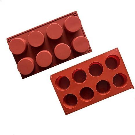 Ogquaton Molde de la Torta de Silicona Mollete de Bricolaje Cubito de Hielo Magdalena Brownie Pan