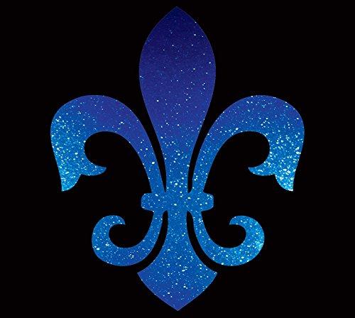 ABC DECALS Fleur De Lis Silhouette Nola New Orleans Louisiana Lily Flower Saints Car Bumper Sticker Metal Flake Decal (4.5