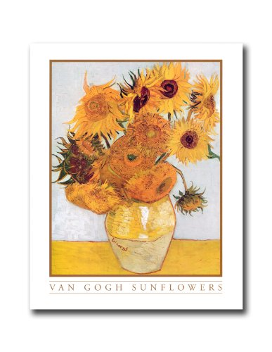 Vincent Van Gogh Sunflowers Floral Wall Picture 8x10 Art (8x10 Art Flower)