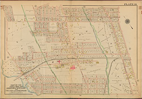 Historic 1912 Map | Bergen County, V. 2, Double Page Plate No. 19 [Map bounded by Grove St., Prospect Ave., Essex St., Rochelle Ave.] | Bergen County (N.J.)Atlases of the - Prospect St