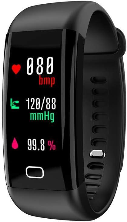 Hunterian Pulsera Deportiva para Hombres o Mujeres multifunción Impermeable presión Arterial oxígeno Sangre Monitor de Ritmo cardíaco Pulsera Inteligente (5 Colores)