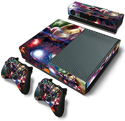 ModFreakz™ Console/Controller Vinyl Skin Set – Gold/Red Heroes for Xbox One Original