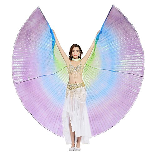 Dance Fairy Belly Dance Isis Wings(Green,Blue,Purple Mixed No.7)(no (Iridescent Fairy Wings)