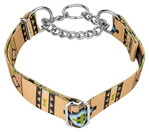 Country Brook Design Native Southwestern Half Check Dog Collar - Medium