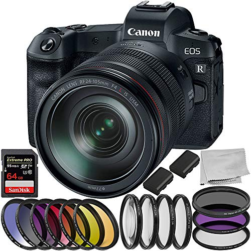 Canon EOS R Mirrorless Digital Camera with 24-105mm Lens 8PC