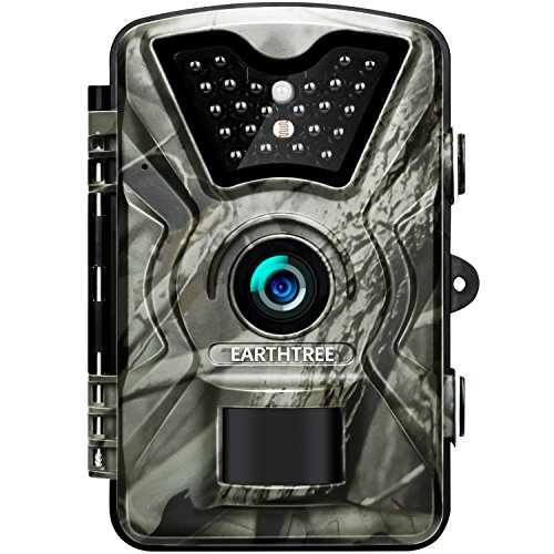 Earthtree Trail Game Camera 12MP 1080P Deer Hunting Camera with 940nm IR LEDs,0.5s Trigger Speed,Night Vision Up to 65ft/20m,2.4'' Display,IP66 Water Resistance for Game & Home Security from Earthtree