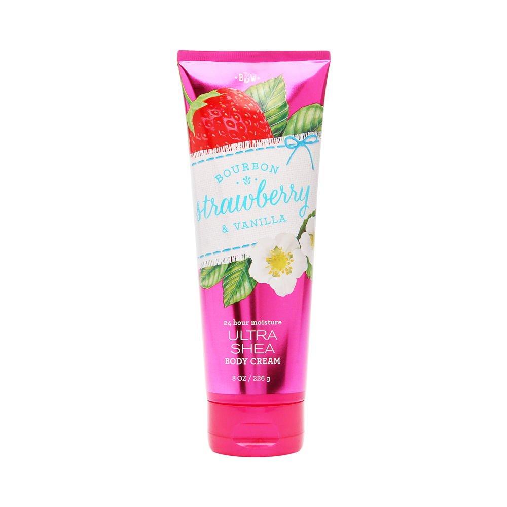 Bath & Body Works Bourbon Strawberry Vanilla Ultra Shea Body Cream, 8 Ounce