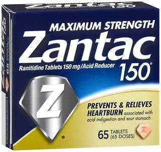 Zantac 150 Tablets - 65 ct, Pack of 6