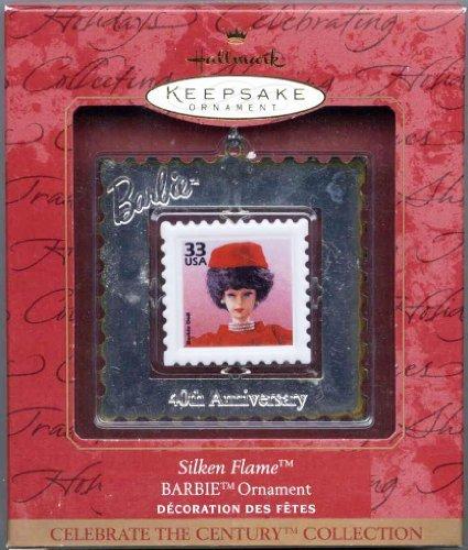 Barbie Doll Hallmark Keepsake Ornament Silken Flame Postal Stamp Celebrate the Century Collection ()