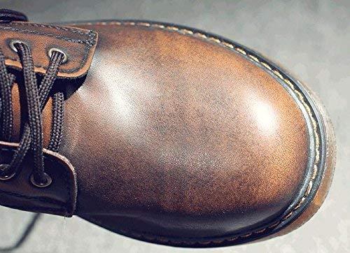 in in in Morbida Martin Uomo Uomo Uomo Uomo 47 Alti Pizzo Colore Alta Pelle FuweiEncore comode Stivali Scarpe di Dimensione da gfHwqga