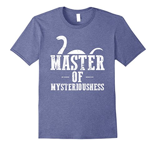 Mens Nessie Master of Mysteriousness Loch Ness Monster Shirt 3XL Heather - Shop Nessie