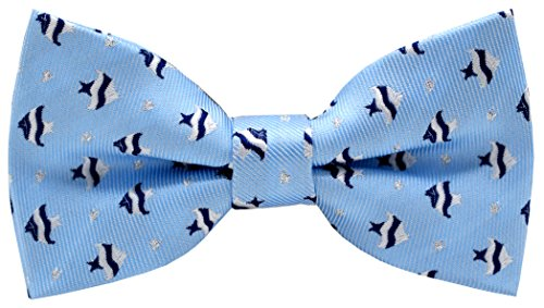 Carahere Boy's Handmade Pre-Tied Patterned Bow Ties fish pattern ()