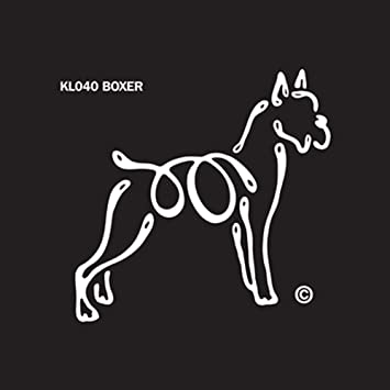 Boxer Uncropped dog Window stickers vinyl decal