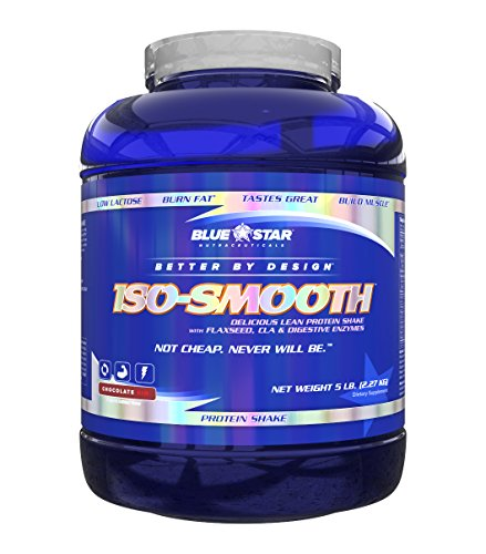 Blue Star Nutraceuticals - Iso-Smooth Pharmaceutical Grade Protein Shake - 5 lbs (Chocolate Sin) by Blue Star Nutraceuticals