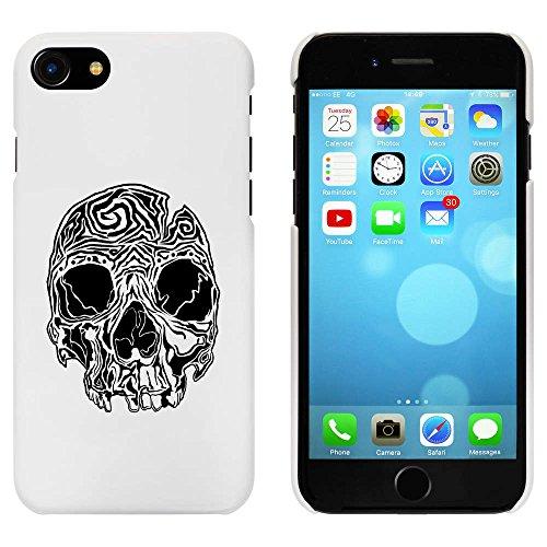 Blanc 'Crâne' étui / housse pour iPhone 7 (MC00063324)
