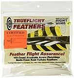 TRUEFLIGHT FEATHERS SHIELD CUT 4 RW WHITE 100/PK.