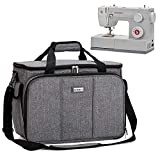 HOMEST Sewing Machine Carrying Case with Multiple Storage Pockets, Universal Tote Bag with Shoulder Strap Compatible with Most Standard Singer, Brother, Janome