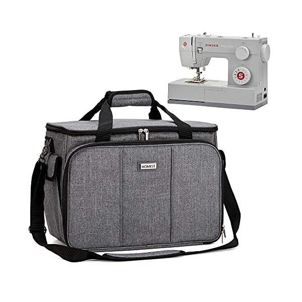 HOMEST Sewing Machine Carrying Case with Multiple Storage Pockets, Universal Tote...