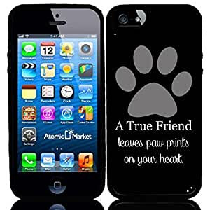IP6 A True Friend Leaves Paw Prints On Your Heart Grey For Iphone 6 Case Cover