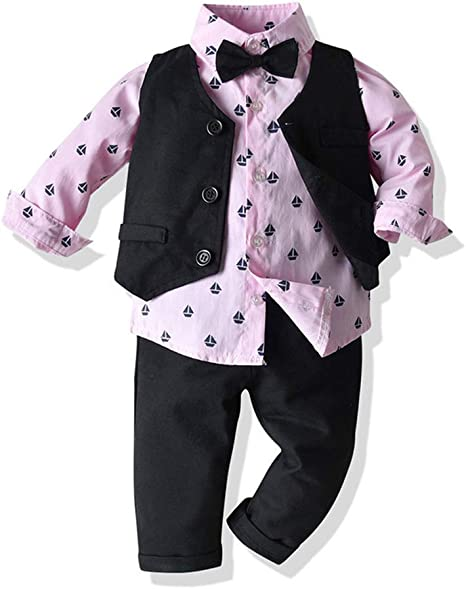 WANLN Ropa del Bebé del Muchacho del Juego de La Camisa + ...