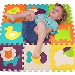 alfombra de juego puzzle piezas de puzzle de encaje que promueven el desarrollo sensorial visual. Black Bedroom Furniture Sets. Home Design Ideas