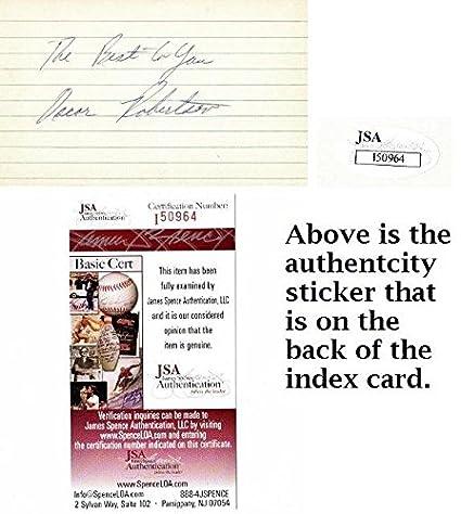 206d306a2 Oscar Robertson Signed - Autographed Cincinnati Royals - Milwaukee Bucks  Vintage 3x5 inch Index Card -