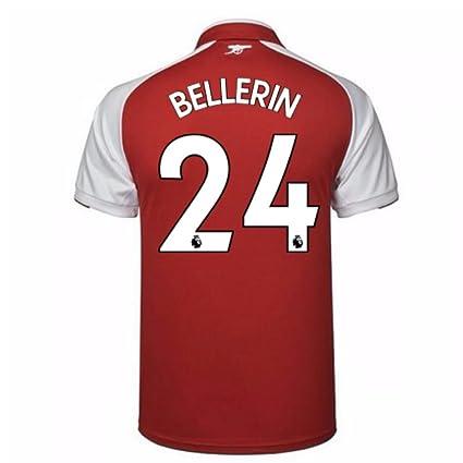 low priced 74952 6ef34 Amazon.com : 2017-18 Arsenal Home Football Soccer T-Shirt ...