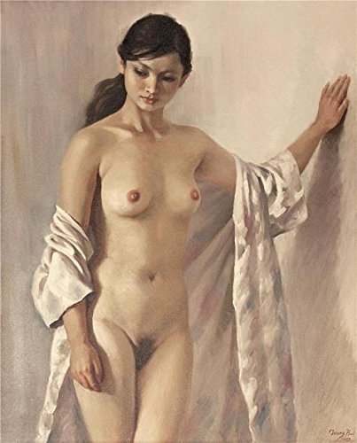 'Modern Home Decoration Oil Painting Of A Nude Woman' Oil Painting, 30x37 Inch / 76x94 Cm ,printed On Polyster Canvas ,this High Resolution Art Decorative Prints On Canvas Is Perfectly Suitalbe For Gym Gallery Art And Home Decoration And Gifts