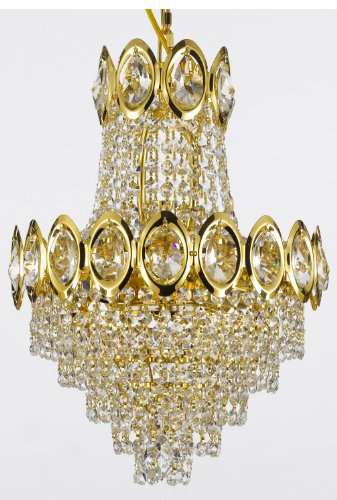French Empire Crystal Chandelier Chandeliers Lighting , H17 X Wd12 , 4 Lights ,