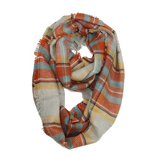 Fashion Scarves Womens Winter Faux Cashmere Christmas Plaid Neck Warmer Afterso