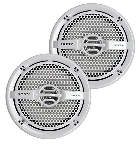 Sony XSMP1611 6.5-Inch Dual Cone Marine Speakers (White) ()