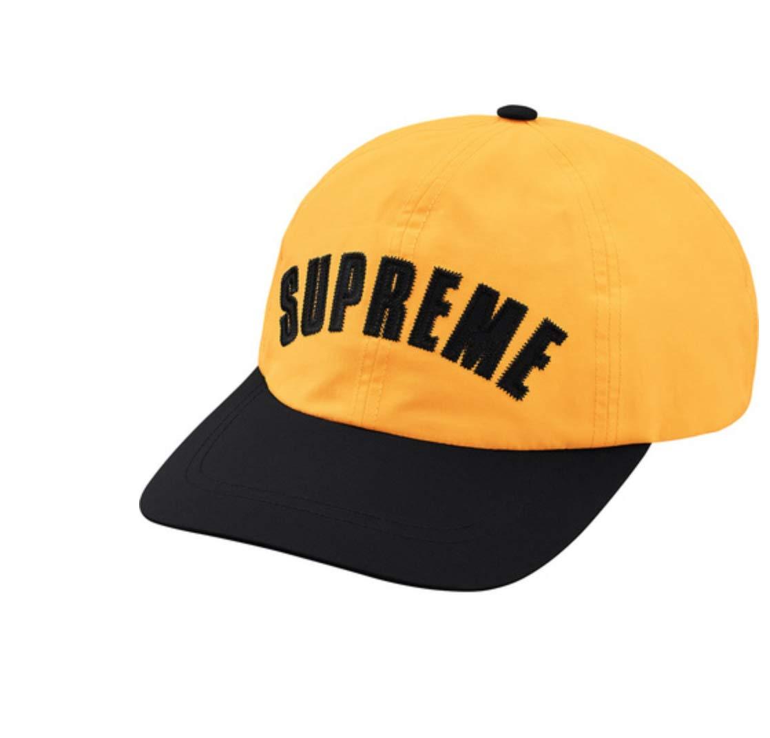 SupremeNewYork Supreme TNF Arc Logo 6-Panel Cap Hat Yellow SS19 100% Authentic Real Rare Designer