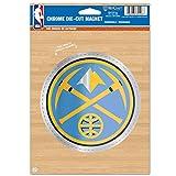 NBA Denver Nuggets Die Cut Logo Chrome Magnet, 6.25 x 9-Inch