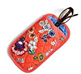 Vera Bradley Double Eye Case Coral Floral Signature Cotton