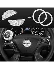 JINGSEN Bling Bling Bling Bling Car volante diamante cristal decalque decoração decalque adesivo adequado para Nissan Maxxima, Altima, sentra, Pathfinder, kicks