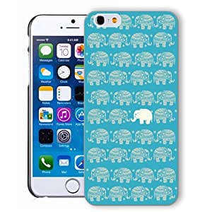 ChiChiC Iphone case, i phone 6 case, iphone6 case,iphone 6 case,iphone 6 4.7 cases, plastic cases back cover skin protector,gold blue elephant