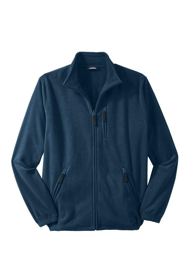 KingSize Men's Big & Tall Explorer Fleece Jacket, Navy Big-6Xl