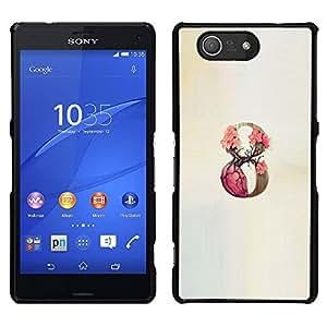 "For Sony Xperia Z3 Plus / Z3+ / Sony E6553 (Not Z3) Case , 9 Infinity Rose Primavera Beige"" - Diseño Patrón Teléfono Caso Cubierta Case Bumper Duro Protección Case Cover Funda"